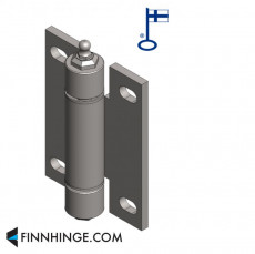 Tampereen-Erikoissarana 023 - Industrial hinge with ball bearing and