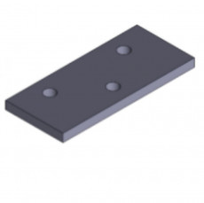 Tampereen-Erikoissarana Flat mounting plate for spring-loaded hinges
